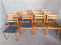 dining chairs (set of 12) by poul volther