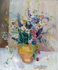 nature morte au bouquet de fleurs de champs by jeanne baraduc