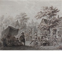 a brawl at a village market by wouter verschuur the elder