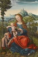 the virgin and child on a grassy bank by master of the piasecka johnson madonna