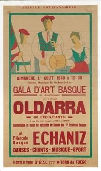 gala d'art basque oldarra, 1er août à saint-jean-de-luz by ramiro arrue
