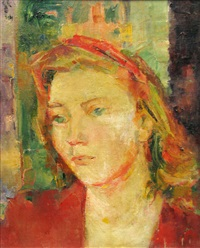 wife's portrait (fraga neamtu) by gheorghe tomaziu