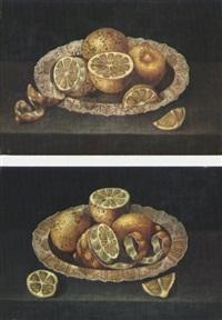 piatto di limoni (+ piatto di limoni; pair) by franz godin