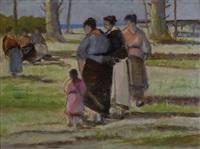 donne sulla spiaggia by lodovico tommasi