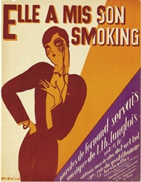 elle a mis son smoking (sheet music cover) by rené magritte