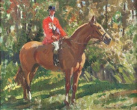 terrier man on horseback by frederic whiting