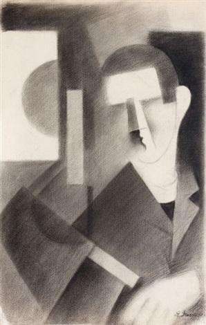 portrait dhomme cubiste by roger de la fresnaye