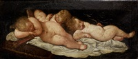 sleeping putti by francesco albani