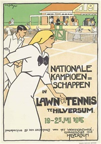 lawn tennis, hilversum by willy sluijter