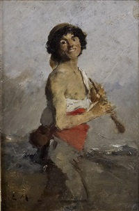 jeune musicien by louis mettling