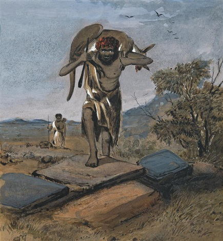 natives returning from the hunt by samuel thomas gill