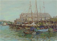 gloucester harbour by henry rodman kenyon