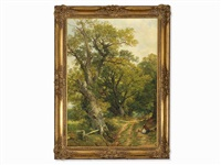 forest path by frederick william hulme
