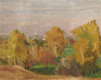 landscape with trees by gheorghe matei cantacuzino
