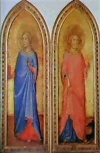 a) sainte cecile                      b) sainte marguerite by andrea di bartolo
