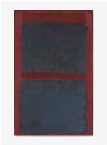 untitled black on maroon by mark rothko