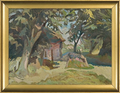 cottage among the trees by stanislaw kamocki