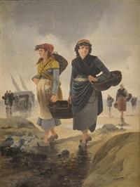 les ramasseuses de coquillage by pierre-albert leroux