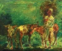 shepherd by pinchas litvinovsky