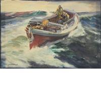 fisherman at sea by john whorf