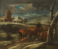 paesaggio con armenti by pieter mulier the younger
