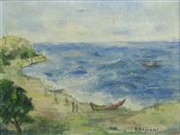 boats in the gulf by dan bajenaru
