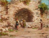 paesaggio (4 works) by silvio poma