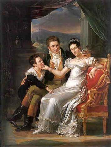 portrait de famille sur fond de paysage by guillaume françois colson