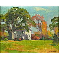 untitled and landscape (2 works) by henry ryan macginnis