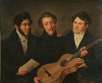three men with guitar by benjamin orth