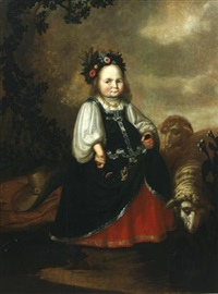 portrait d'enfant by herman mijnerts doncker