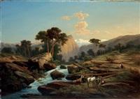 paysage de montagne by henri baumgartner
