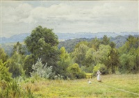 a surrey landscape by george marks