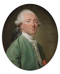 portrait d'homme à la veste verte by etienne aubry