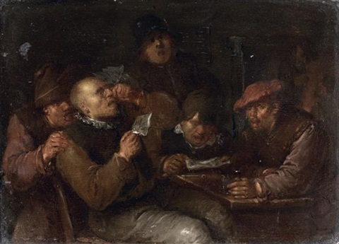 scène de taverne by egbert van heemskerck the elder