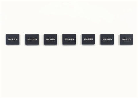 dec. 1 1974 (+ 6 others; 7 works from today series) by on kawara