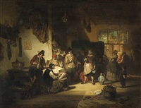 in the tavern by alexander louis lion
