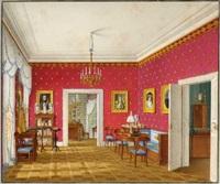 interieur in einer residenz der herzöge von leuchtenberg by franz xaver nachtmann