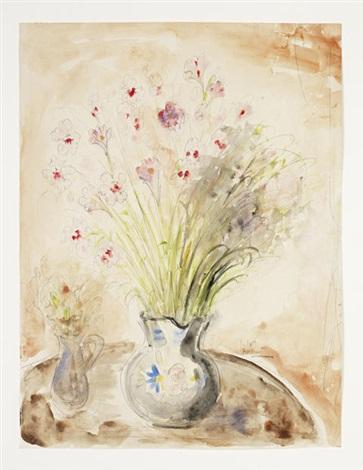 Vase Of Flowers On A Table By Reuven Rubin On Artnet