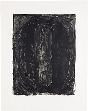figure 0 from black numeral series by jasper johns