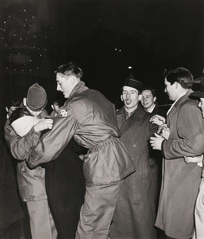 duffy square, new years eve by weegee