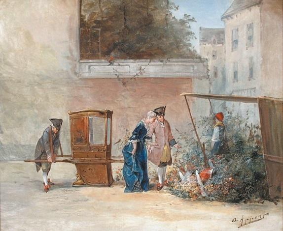 la princesse au marché aux fleurs by eugène appert