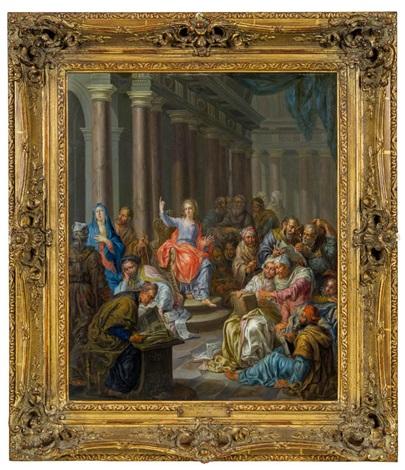 christus und die schriftgelehrten im tempel by franz christoph janneck