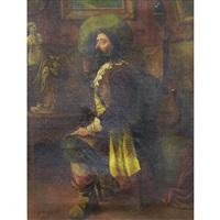cavalier in an interior by edgar bundy