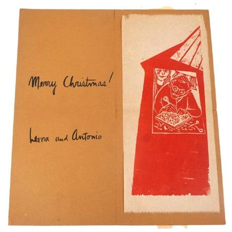 4 prints christmas card sun autobiographia cityscape by antonio