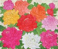 colorful peony by wu hao