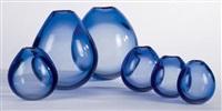 ensemble de six vases (set of 6) by per lutken