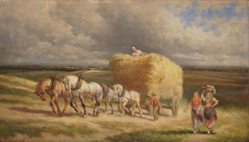 le retour des champs par temps orageux by charles coumont