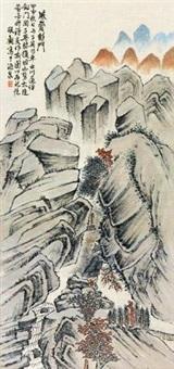 威震剑门 立轴 设色纸本 by xia jingguan