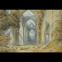 untitled - cathedral ruins by samuel prout